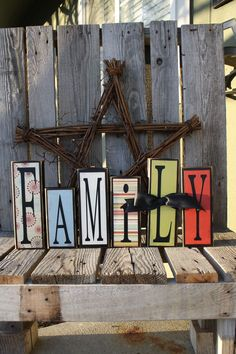 Family wood blocks