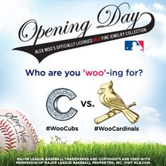 #OpeningDay has finally arrived! Who's ready to play ball? #alexwoo #littleicons #mlb #woocubs #woocardinals #wooplayball #stlcards #cubs