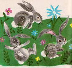 """""""Bunny Button"""" by Revena, illustrated by Bernice Myers (1950s)"""