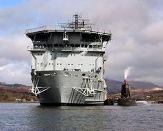 HMS Ambush Alongside RFA Diligence