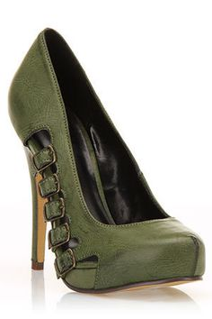 wow awesome green heel-- LOVE THESE