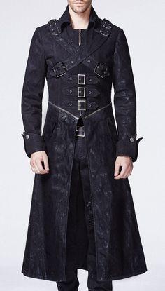 Veste noire homme avec zip, sangles, attaches et poches Punk Rave > STEAMPUNK STORY - PUNKR0012 Shop : www.steampunk-story.com