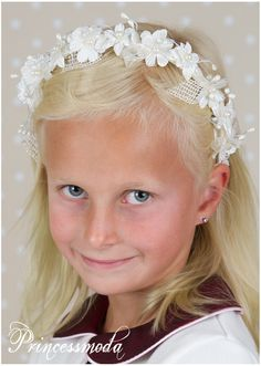 Nr.24 Edler Haarreif in Champagner! - Princessmoda - Alles für Taufe Kommunion und festliche Anlässe