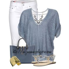 A fashion look from July 2014 featuring Inhabit t-shirts, True Religion jeans and Kate Spade sandals. Browse and shop related looks.