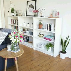 Since getting in to interiors, I've been all about the 'trial and error' approach when decorating my home. You'll often noticed that prints, plants and ornaments move from room to room until they find Home Living Room, Living Room Designs, Living Room Decor, Bedroom Decor, Master Bedroom, Billy Ikea, Flat Ideas, Home And Deco, Home Decor Inspiration