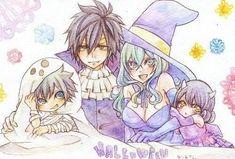 Fairy tail// Juvia and Gray family Fairy Tail Kids, Fairy Tail Juvia, Fairy Tail Gray, Fairy Tail Funny, Fairy Tale Anime, Fairy Tail Family, Fairy Tail Love, Fairy Tail Couples, Fairy Tales