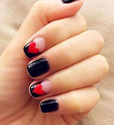 Heart Shape Nails ==