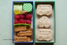 Simple Bento Lunches // Transportation Sandwiches + Scooby Bones