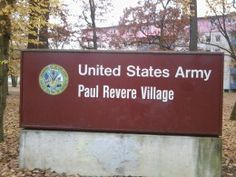 PAUL REVERE VILLAGE AND MILITARY BASE IN KARLSRUHE, GERMANY