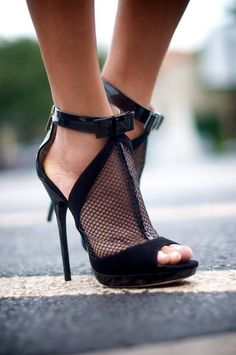 sexy mesh sandals black shoes