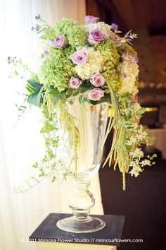 Purple and White Tall Centrepieces at Hernder Estate Winery 5