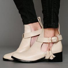 Shakuhachi Nix Cutout Ankle Boot on Picsity