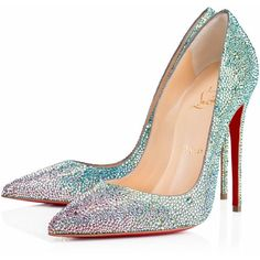 Ladies Christian Louboutin So Kate Strass Jet Strass Bridal Pumps Louboutin High Heels, Stiletto Shoes, Sexy High Heels, High Heels Stilettos, Cl Fashion, Fashion Heels, Latex Fashion, Fashion Outfits, Cheap Christian Louboutin