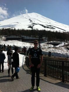 Ryan Hill repping the Vodafone Warriors at Mt. Ryan Hill, Mount Fuji, Mount Rainier, Warriors, Around The Worlds, Japan, Mountains, Travel, Fuji Mountain
