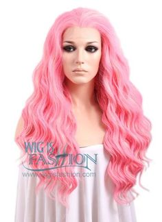 """24"""" Long Curly Pink Mixed Blonde Lace Front Synthetic Hair Wig LF239   Wig Is Fashion"""