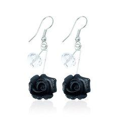 #earrings #accessories #fashion #handmade #thailand #black #flower #instafashion #instadaily #instacool - @orashops- #webstagram