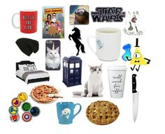 """""""Favorite things"""" by fancyalpaca ❤ liked on Polyvore featuring art and lolbored"""