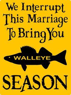 WALLEYE FISHING SIGN 9x12 Aluminum by animalzrule on Etsy, $12.00