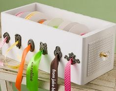 storage for beads & ribbons