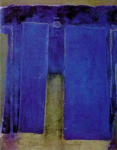 Antoni Tapies- cobalt and army- perfection...