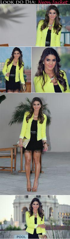Look do Dia: Neon Jacket