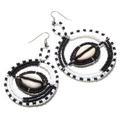 Beaded African #Earrings Made By Maasai Women  Country of Origin: Tanzania