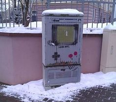 Nintendo Gameboy Street Art! Street art IS art. The world is their canvas. And as long as their hearts beat and the world has streets, their art will live on.