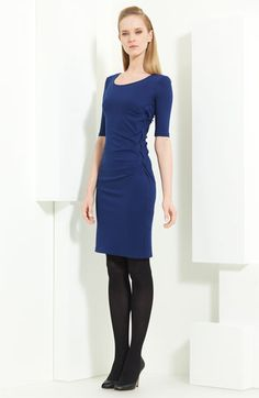 Armani Collezioni Braid Detail Milano Jersey Dress available at #Nordstrom-Love the blue!