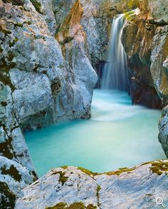 Soca waterfall, Triglav National Park, Slovenia