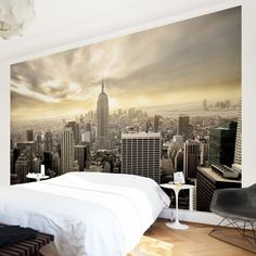 New York Tapete - Vliestapete - Manhattan Dawn - New York Fototapete Breit