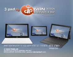 Microsoft Surface Tablet DIP   PSD by ipawluk.deviantart.com