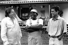Tom Jobim recebe Milton Nascimento e Chico Buarque em sua casa; foto faz parte da mostra (Foto: Cristina Granato)