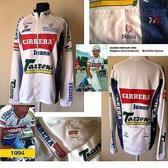 Jacket Shirt Pantani Carrera 1994 Cycling Vintage Jersey Nalini Tonello Chaqueta