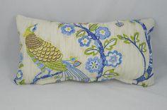 Blue floral spray cushion.  https://www.etsy.com/ca/listing/228353341/iman-magical-garden-lumbar-cushion-cover
