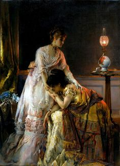 - After the Ball. Alfred Stevens (Belgian, Brussels 1823–1906 Paris).