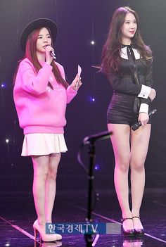 Euaerin (Nine Muses) and Sunny (SNSD)
