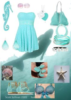 """Tourquise Mermaid"" by ellydesy ❤ liked on Polyvore"