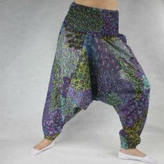 Spodnie szarawary alladynki wzór orientalny