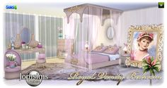 Sims 4 CC's - The Best: Royal Vanity Bedroom Set by JomSims