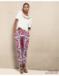 Patricia Kihoro: I just absolutely love this print, pant shape and boxy crop.
