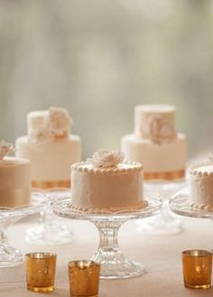Mini Cakes Captured by Erin Kate Photography via Snippet and Ink