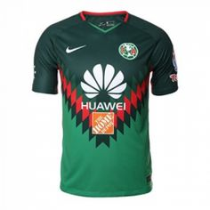24ced93b747 2018 Club America Fourth Away Green Soccer Jersey Shirt. Club AmericaMexico  LeaguePumasJersey ...