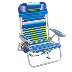 RIO Brands Folding Beach Chair at Lowe's. Take seating with you that's comfortable just about anywhere with the lace-up aluminum beach backpack chair. The lace-up suspension on this backpack chair Backpacking Chair, Camping Chairs, Camping Gear, Lawn Chairs, Outdoor Chairs, Rio Beach Chairs, Heavy Duty Beach Chairs, Folding Lounge Chair, Lounge Chairs