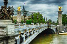 Paris - bridge of Alexandre III #Paris #StudentFlights #GoYourOwnWay #Travel