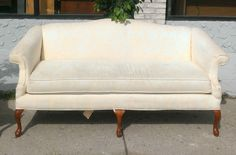 Nice French Provincial Queen Anne Style Sofa in Very Good Condition.  76 x 32 x 34.  <b>$350</b>