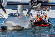 Passengers had the opportunity of a full-stop landing, and a ride in a boat during the Catalina's first flight of the season. (photo by John Redeker)