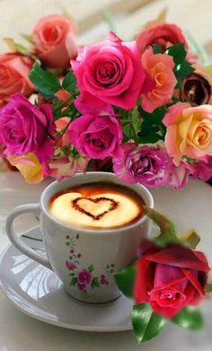 Good Morning my Friend Good Morning Coffee Gif, Good Morning Roses, Good Morning Images Flowers, Gif Café, Sweet Coffee, Black Coffee, Coffee Heart, Coffee Pictures, Coffee Photography