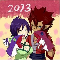 Cobra et Kinana vous souhaitent une bonne année 2013. Même si c'est déjà passé.