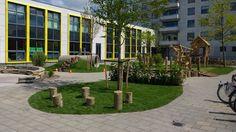 Schoolplein groen