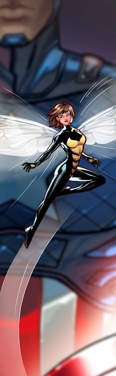 Wasp Panel Art by Rich Bernatovech (It's got Cap in there, but...whatever, lol)